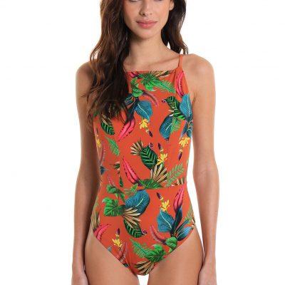 One-Piece Swimsuit Recreio Banana Flower
