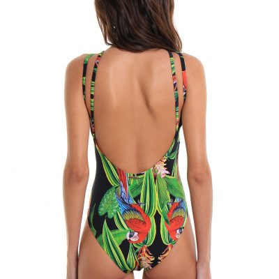 One-Piece Swimsuit Prainha Parrot
